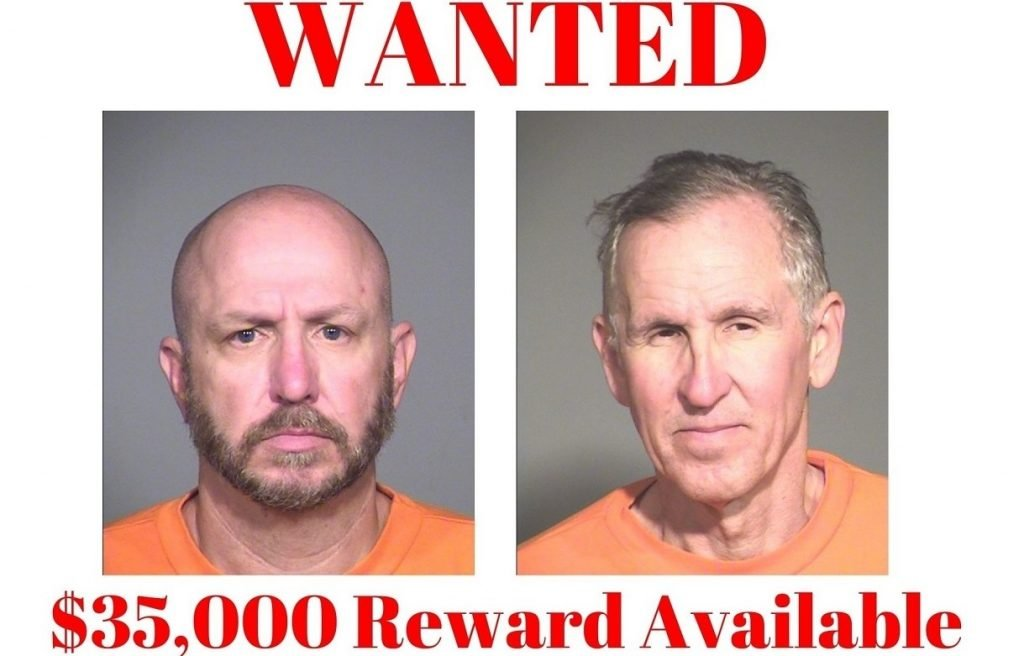 ADCRR Image of two escaped inmates