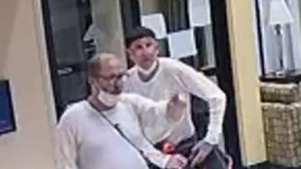 The Two Escapees shown Robbing a Business